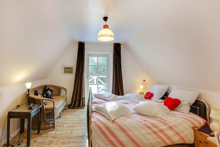 Fyn,double room No 1, Gislev, Funen - Gislev - Wikt i opierunek