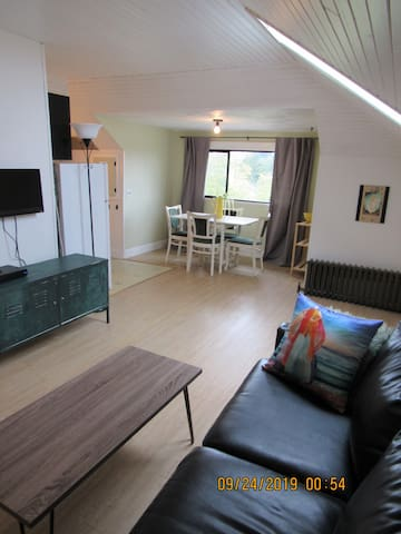 Private Living room and dining area of suite 5