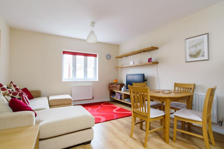 Quiet family friendly flat in residential suburb