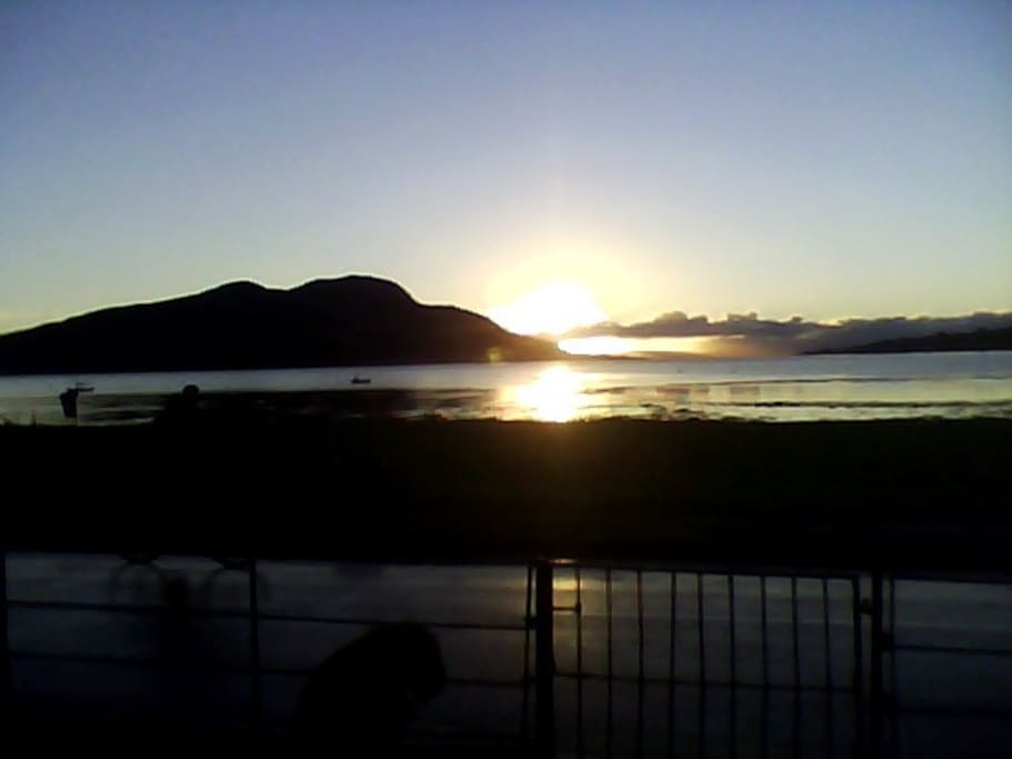 Sunrise from the front door