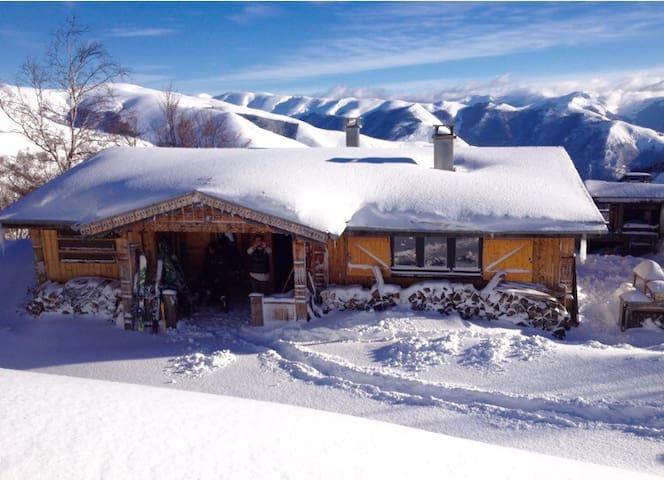 Chalet bois Pyrénées sauna jacuzzi - Gouaux-de-Larboust - Huis