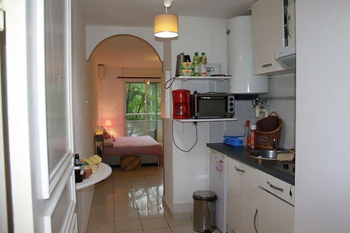 Nice flat close to the beaches of Boucan Canot