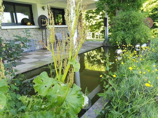 Deauville maison entrée et jardin privé vue mer