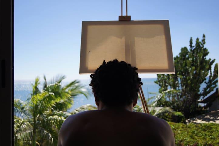 Belle vue pour peindre...