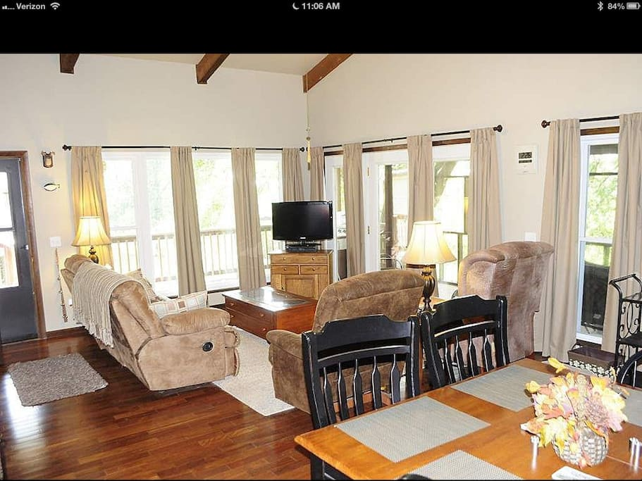 Main floor living room/dining area