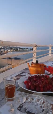 s+1 meublé vue mer