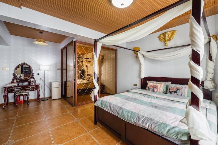 【每客消毒】 55坪  泰式曼谷 大床房 TOTO智能马桶  总统套房床垫 可做饭 顶级豪华民宿
