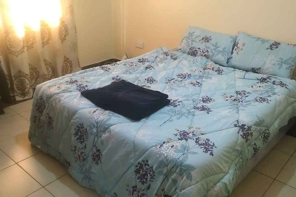 King Size bed, can sleep two, an extra single bed can be availed on request.