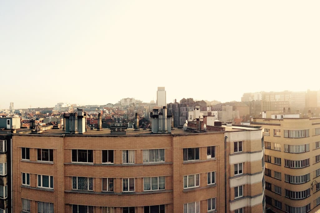 View over Brussels. The apartment is oriented full south so plenty of light all day long!