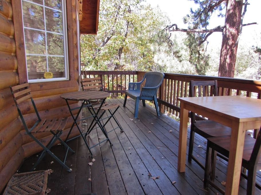 Front Porch With Seating & Treed Views