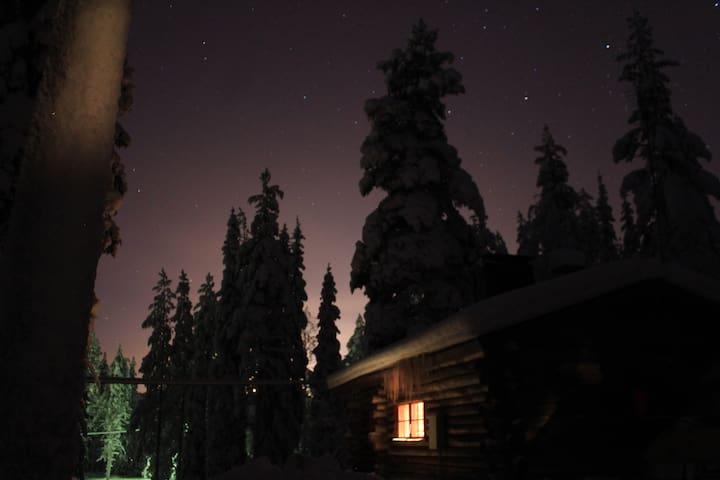 Cosy winters night under the stars