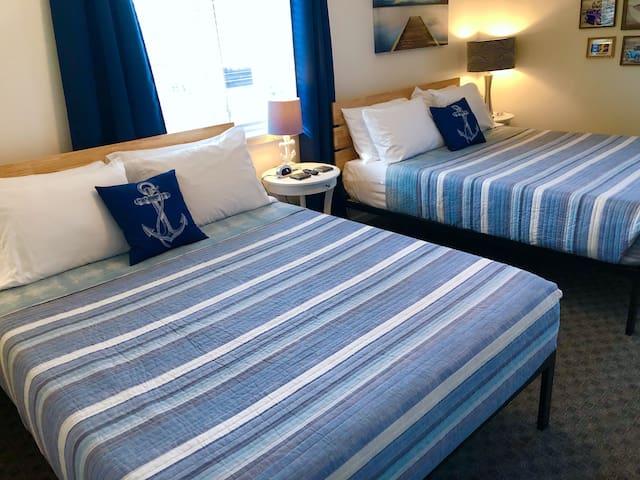 You'll get a great night's sleep on the memory foam mattress.