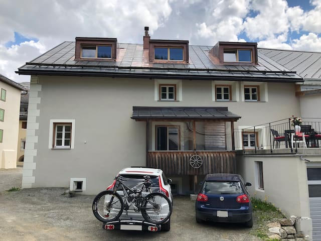 Parking behind the house