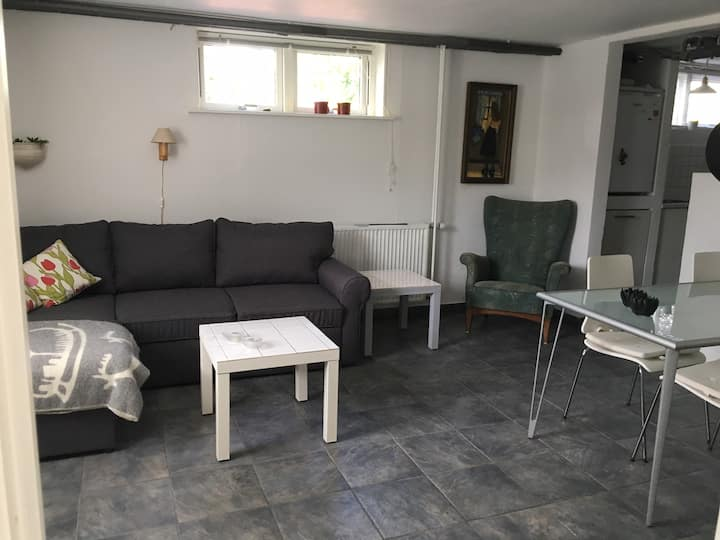 Large apartment. Close to town, forest and lake.