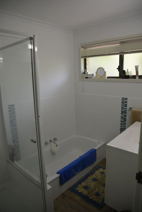 Bathroom and Great Shower!