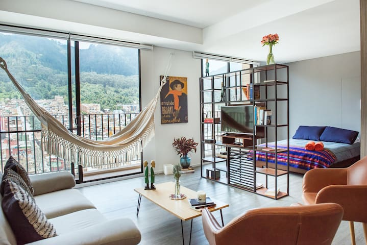 Brand new loft apartment in downtown Bogota.