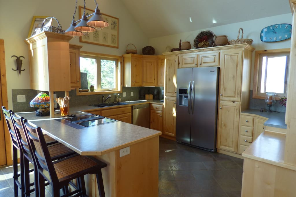 Newly remodeled kitchen with stainless steel appliances