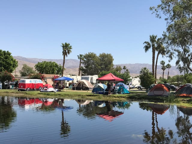 Stagecoach Glamping Pond Tent Site for 2, site D