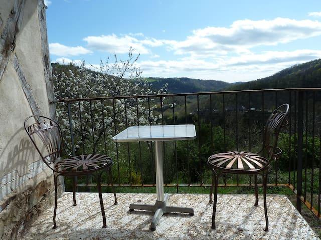 gite avec vue sur les gorges de l'Aveyron