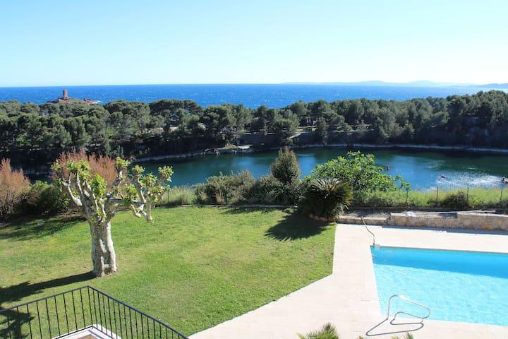 sea view villa pool near beaches