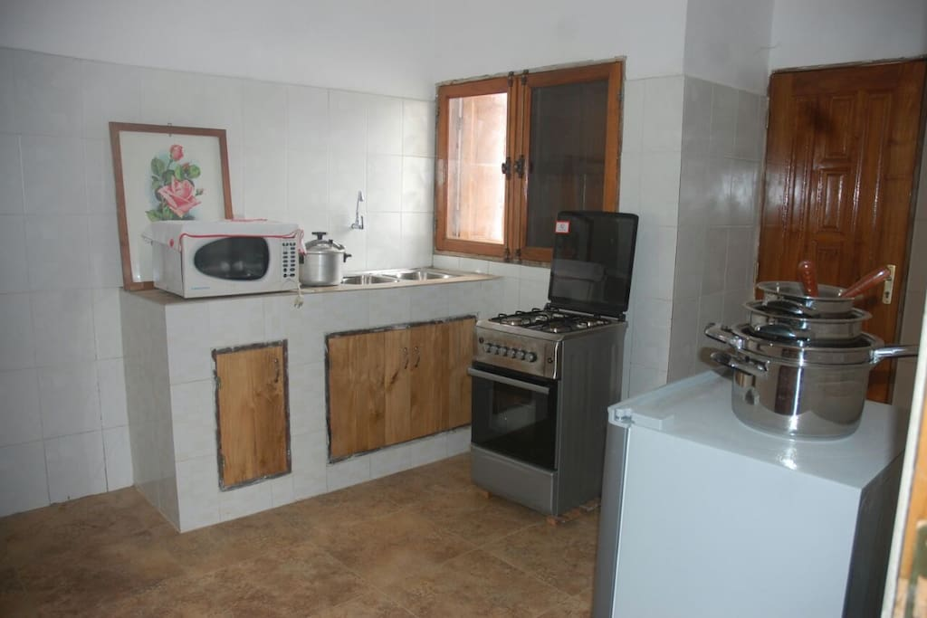 Furnished kitchen
