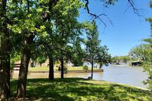 View of Lake from backyard.