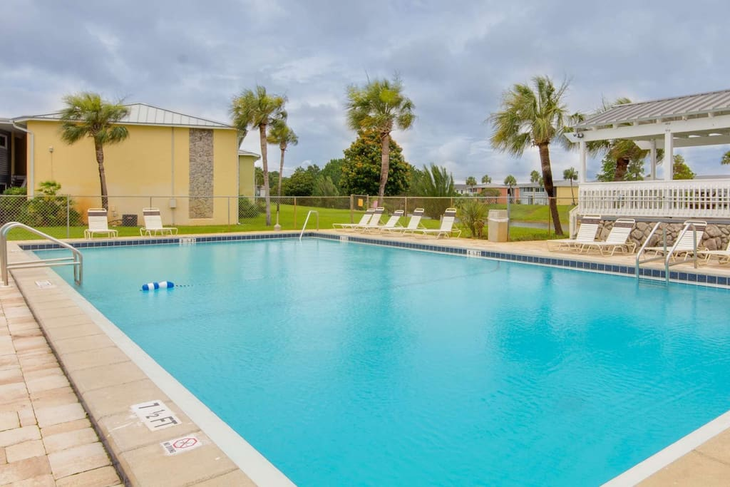 Enjoy taking in the sun at one of three pools in the community