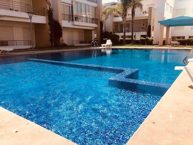 Magnifique apart avec vue sur piscine à Tamaris