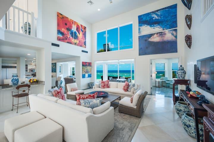 Great Bluff Estates: Great Snorkeling w/ Oceanfront Pool, Designer Interiors & Multiple Decks