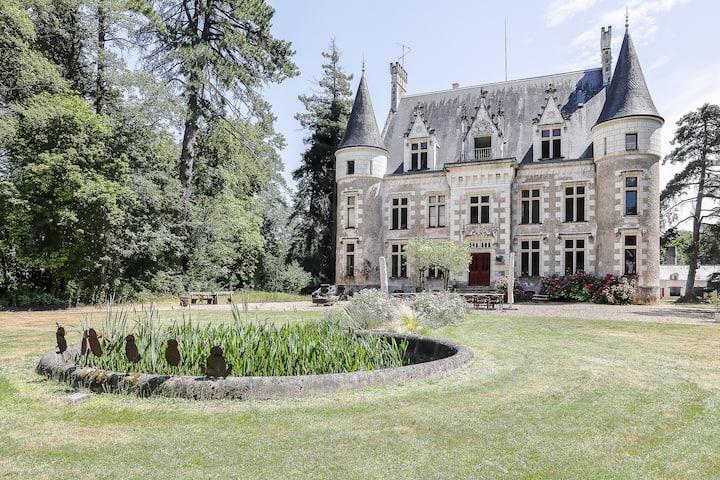 Château Le Grand Biard (18km van Chenonceau & Zoo)