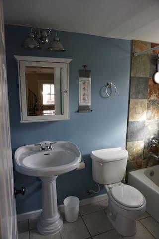 Downstairs bath.