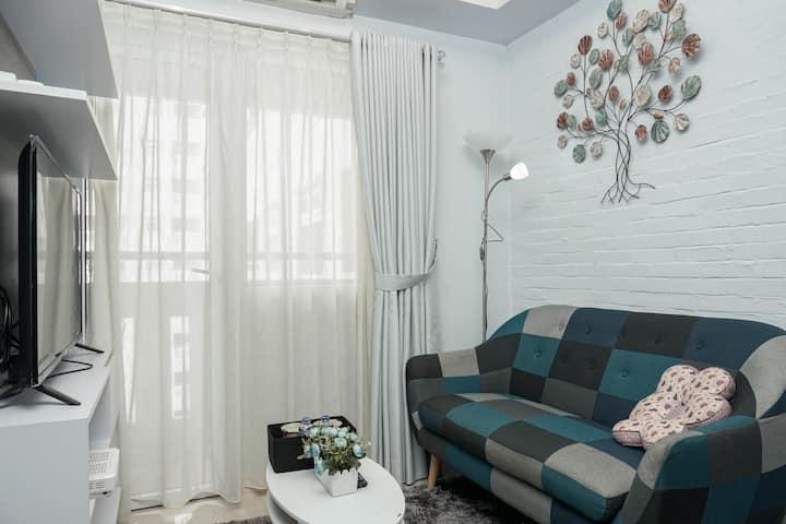 Relaxing & Warm 2BR @ Green Pramuka City Apartment