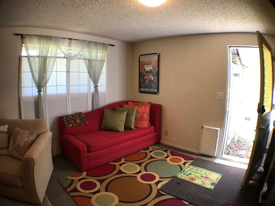 Living Room facing entry door.