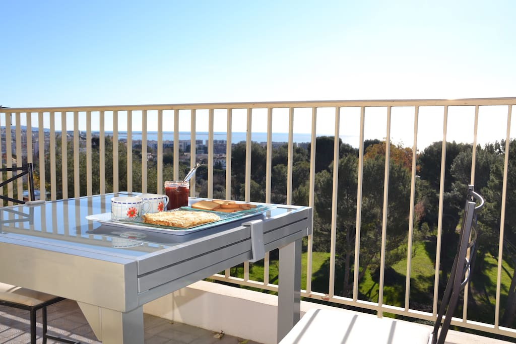 Terrasse with view of Nice