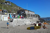 Whitsand Bay Beach café and life guards