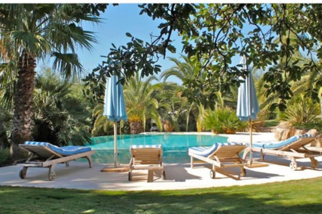 La piscine privée de la maison