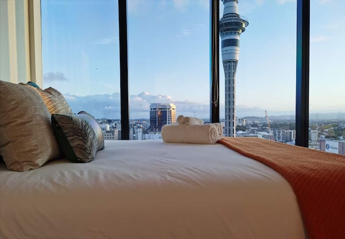 Auckland CBD with magnificent views