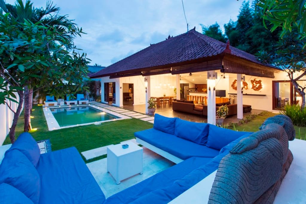 Pool view from the sofa