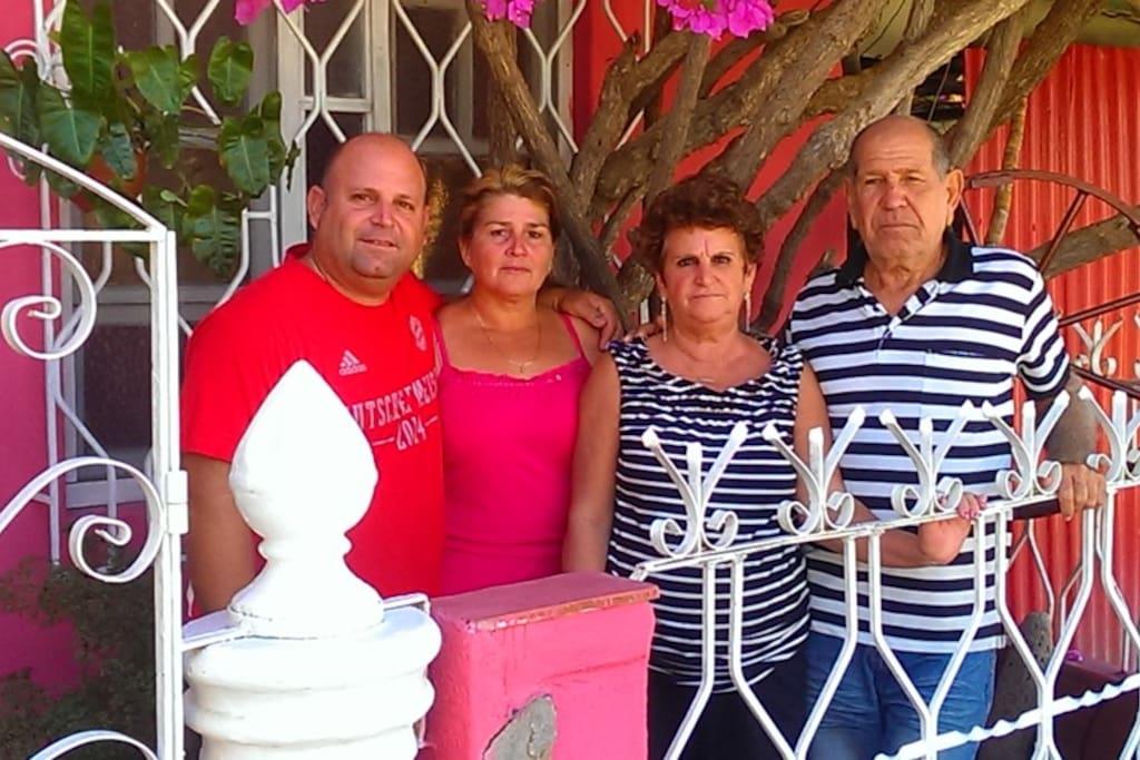 Familia anfitriona