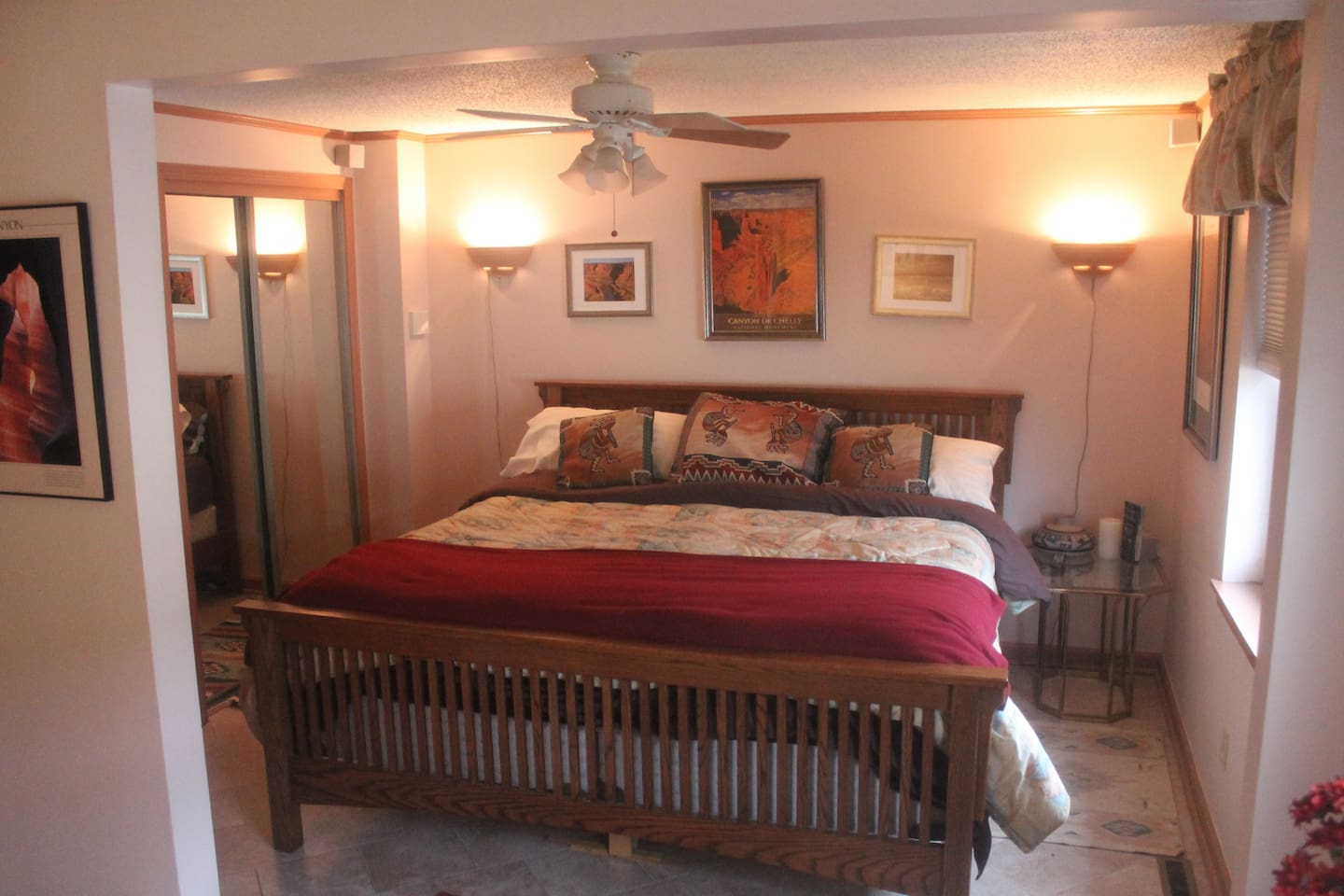King bed in upstairs suite