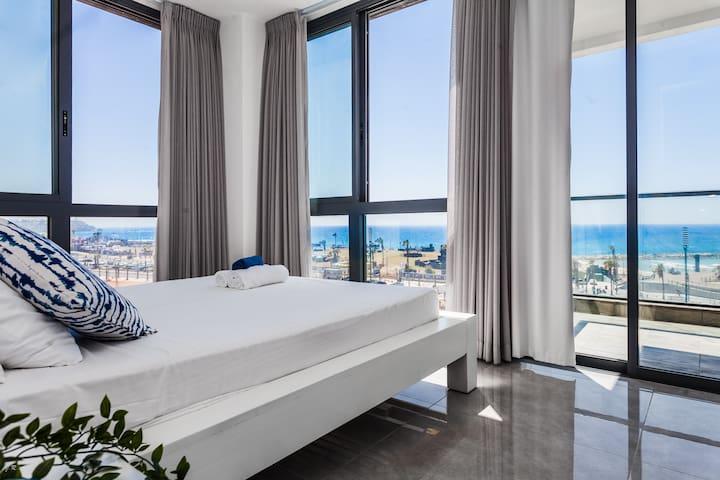 ☀️🌊🏖️Exciting Sea View Modern Beachfront Aparts!