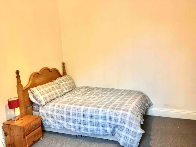 Large double room with private separate bathroom.