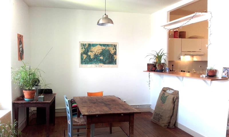 Artist flat with terrasse in city center - Angoulême - Apartment