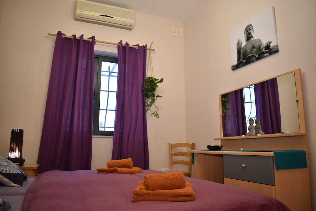 Your shanti double Bedroom- the Purple room!