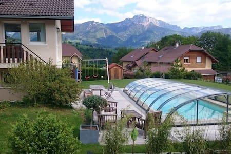 Maison avec piscine - 10min Annecy - 30min Geneve - Charvonnex