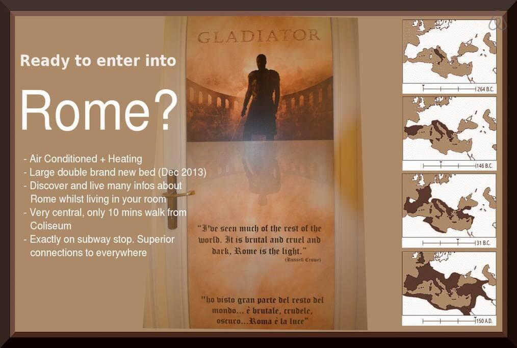 Gladiator Room: Duble bed room
