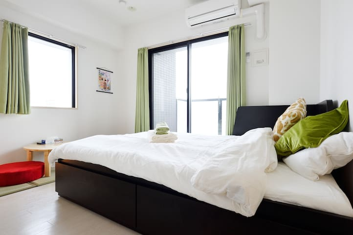 NEW OPEN!JAPANESE STYLE(FREE POCKETWIFI)6MIN NANBA - 大阪市浪速区日本橋4丁目3番13 - Apartament