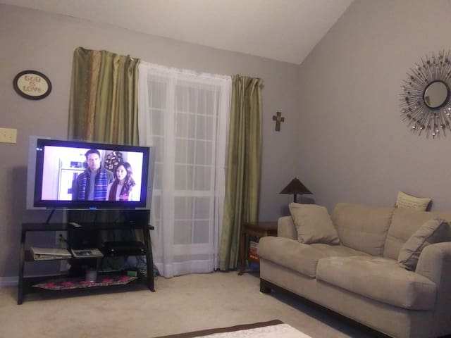Living Room with WiFi and Direct TV including HBO, Showtime, Cinemax.
