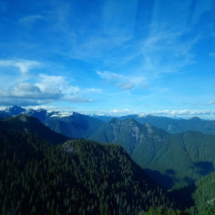 The majestic view from Grouse Peak