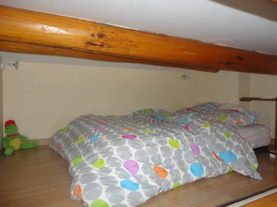 Mezzanine avec lit deux places